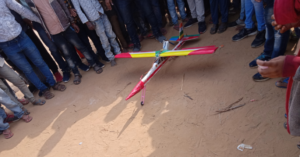 Small Airplane Designed by Young Man From a Small Village